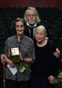 Ivanka Mežan Marinček, Miha Baloh, Štefka Drolc - BERT 2015. Foto: Peter Uhan